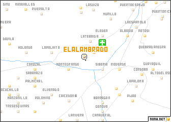 map of El Alambrado