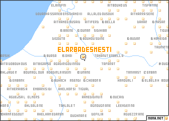 map of El Arba des Mesti