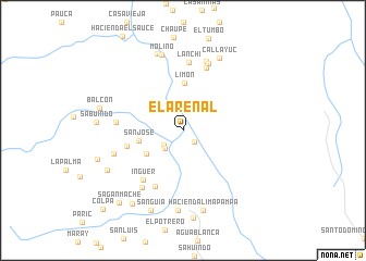map of El Arenal
