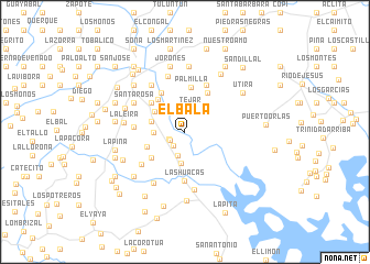 map of El Bala