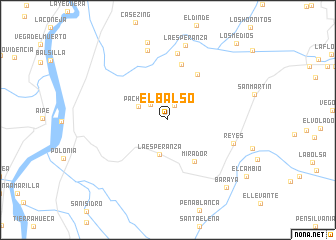 map of El Balso