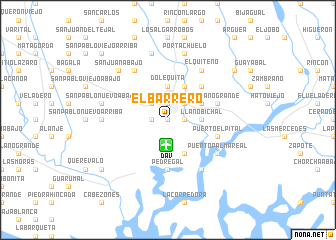 map of El Barrero