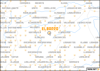 map of El Barro