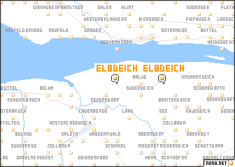 map of Elbdeich