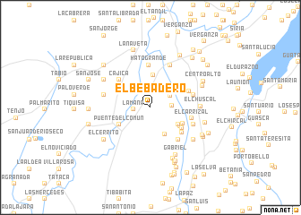 map of El Bebadero