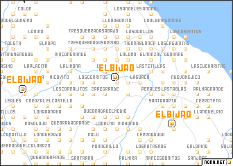 map of El Bijao