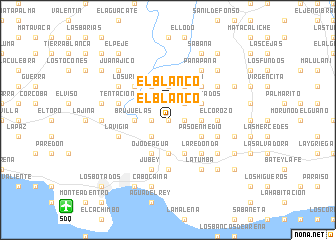 map of El Blanco