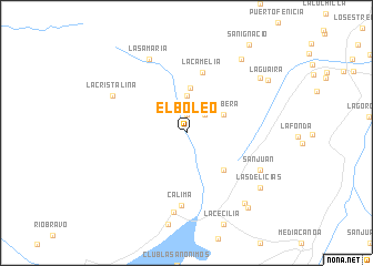 map of El Boleo