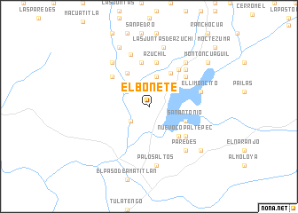 map of El Bonete