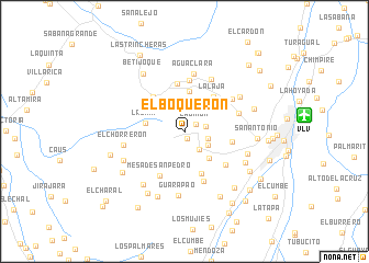 map of El Boquerón