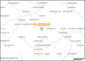 map of El Bosque