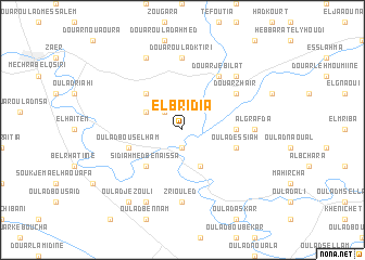 map of El Bridia