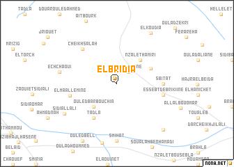 map of El Bridia