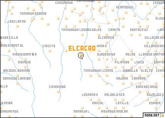map of El Cacao