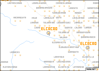 map of El Cacao