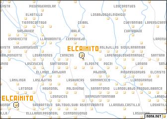 map of El Caimito