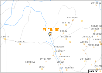 map of El Cajón