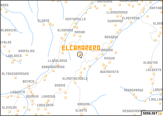 map of El Camarero