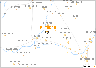 map of El Cardo