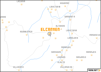 map of El Carmen