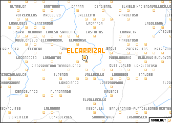 map of El Carrizal