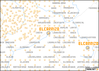 map of El Carrizo