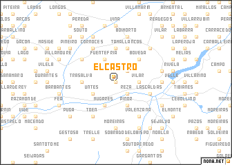 map of El Castro