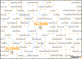 map of El Cedro