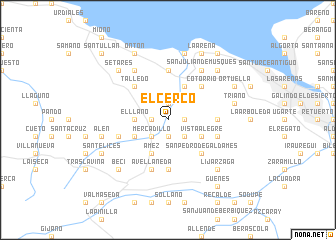 map of El Cerco