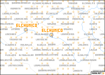 map of El Chumico