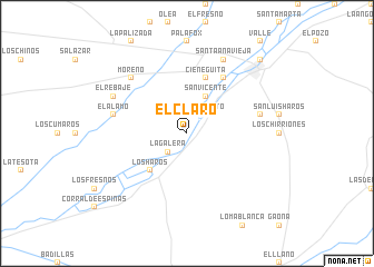 map of El Claro
