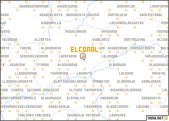 map of El Conal