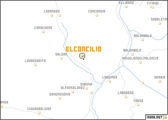 map of El Concilio