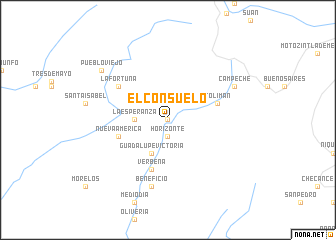 map of El Consuelo