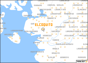 map of El Coquito