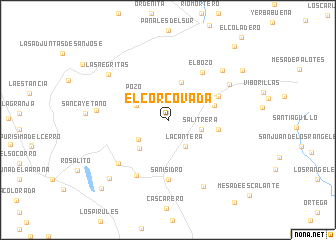 map of El Corcovada