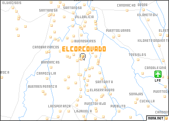 map of El Corcovado