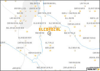 map of El Corozal