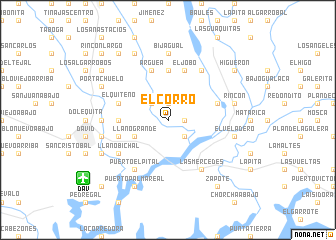 map of El Corro