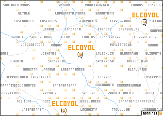 map of El Coyol