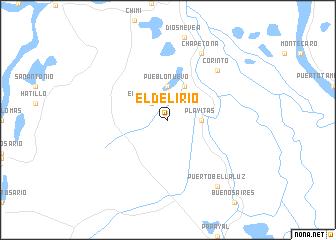 map of El Delirio
