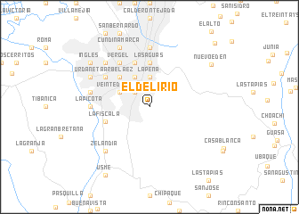 map of El Delirio