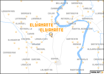 map of El Diamante