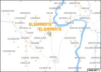 map of El Diamante