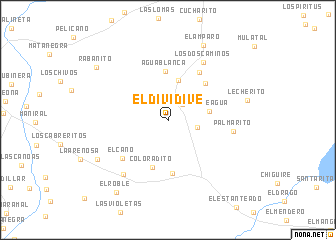 map of El Dividive