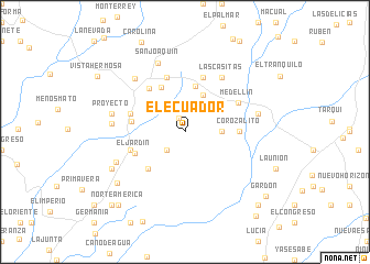 map of El Ecuador