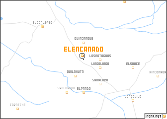 map of El Encañado