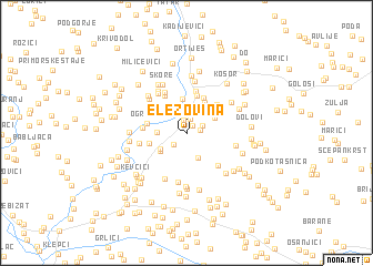 map of Elezovina