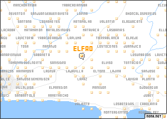 map of El Fao
