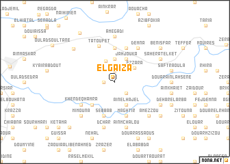 map of El Gaïza